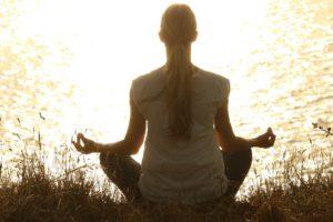 Méditer, Méditation, Pacifique, Silhouettes